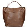 Hnedá kabelka v Hobo štýle bata, hnedá, 961-3808 - 26