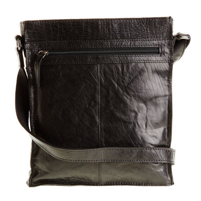 Pánska kožená  Crossbody taška bata, čierna, 964-6141 - 26
