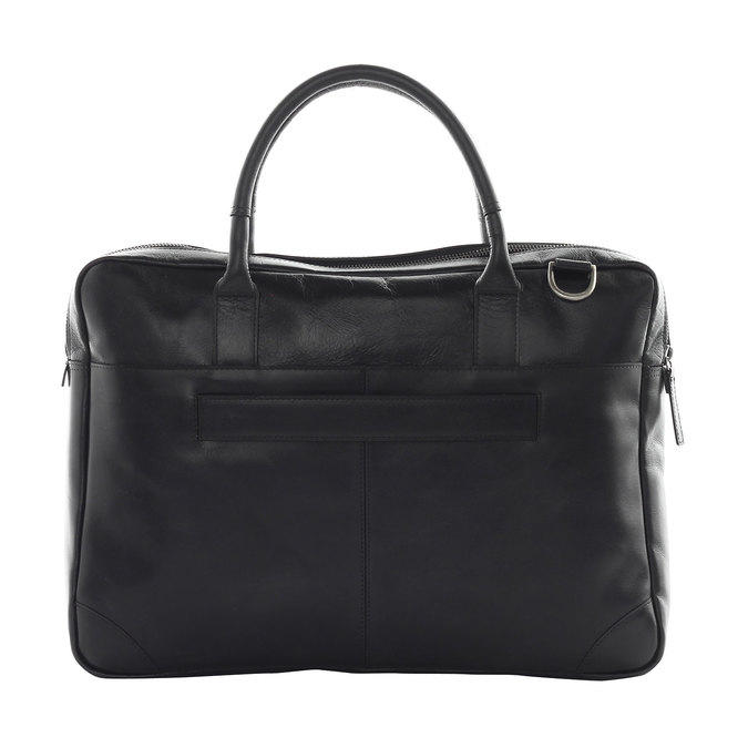 Kožená taška s popruhom royal-republiq, čierna, 964-6199 - 15