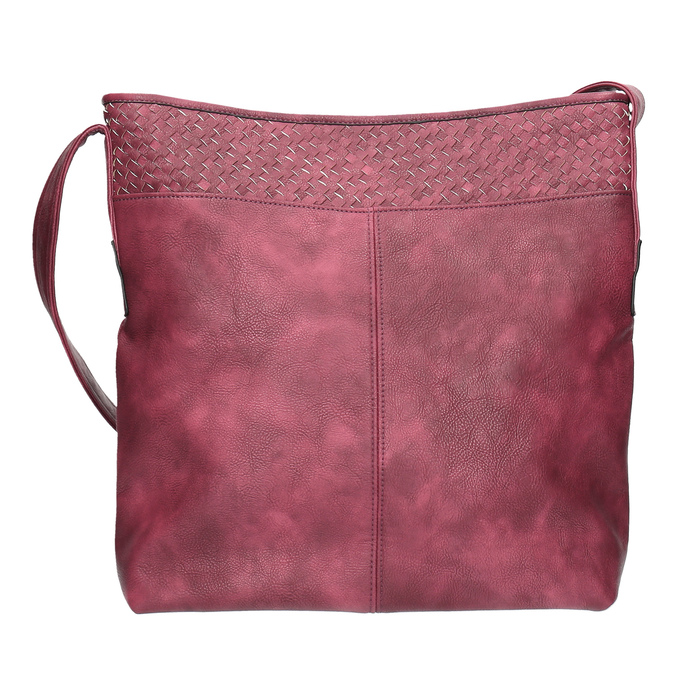 Vínová kabelka s dlhým uchom bata, ružová, 961-5600 - 19