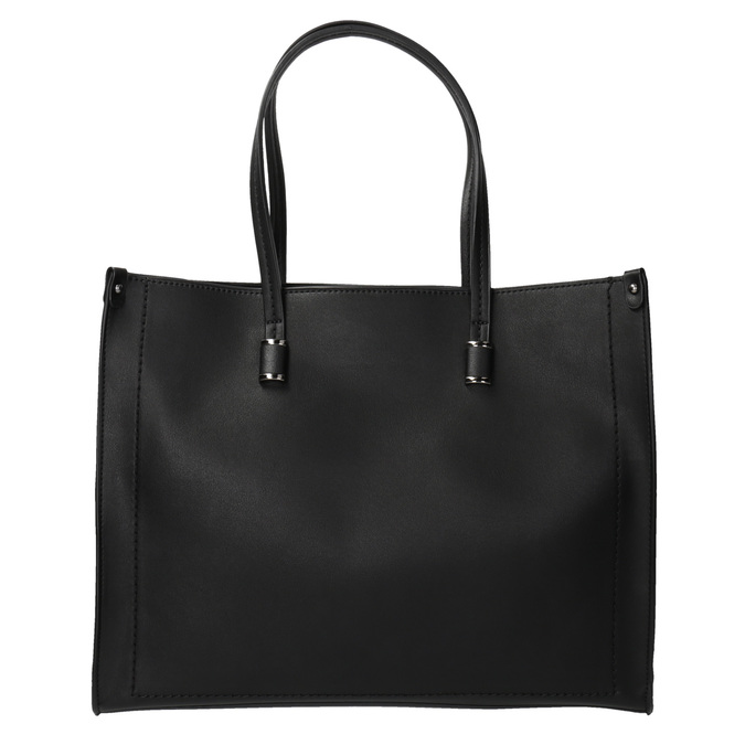Hranatá kabelka v Shopper štýle bata, čierna, 961-6736 - 19