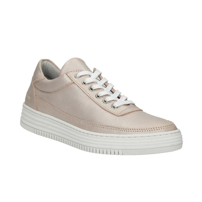 Dámske kožené tenisky bata, ružová, 526-5612 - 13