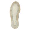 Kožené poltopánky na priehladnej podrážke weinbrenner, biela, 526-1608 - 26