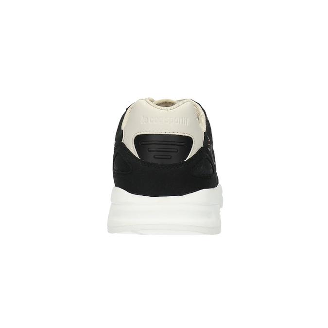Dámske tenisky s kvetinovým vzorom le-coq-sportif, čierna, 509-6610 - 17