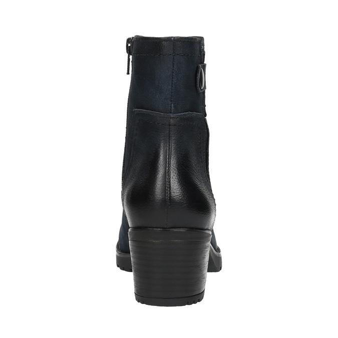 Dámska členková obuv bata, modrá, 696-9603 - 17