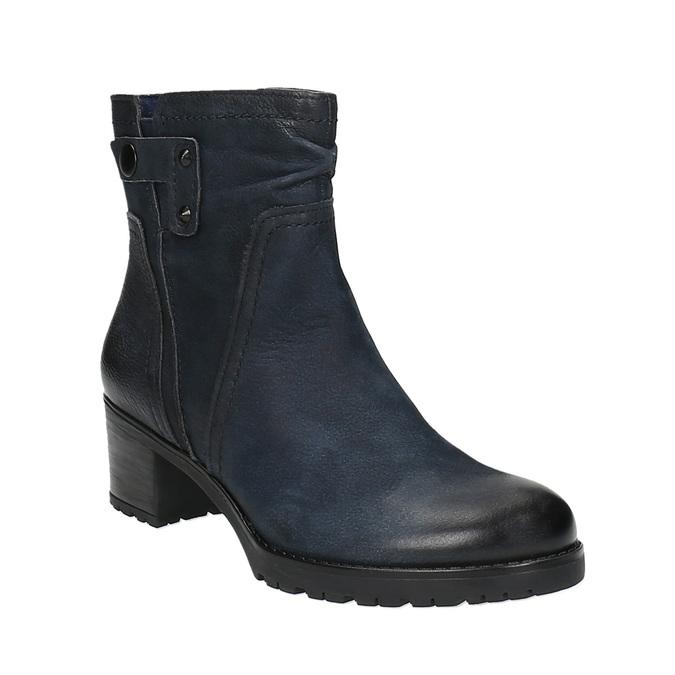 Dámska členková obuv bata, modrá, 696-9603 - 13