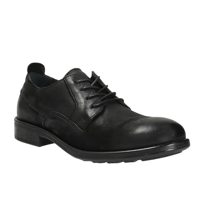 Kožené poltopánky v ležérnom dizajne bata, čierna, 826-6732 - 13