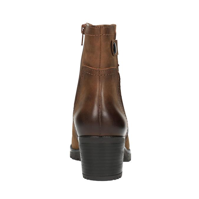 Dámska členková obuv bata, hnedá, 696-4603 - 17
