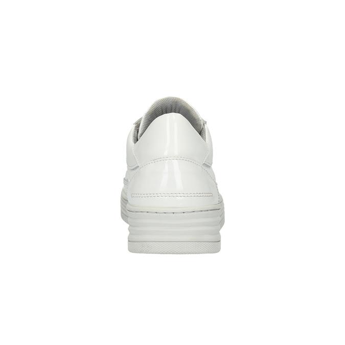 Biele kožené tenisky bata, biela, 528-1632 - 17