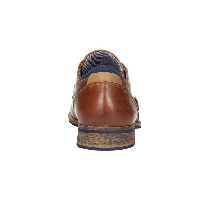 Kožené poltopánky v ležérnom štýle bata, hnedá, 824-4620 - 17