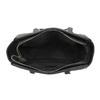 Shopper kabelka s prešíváním a strapcom bata, čierna, 961-6287 - 15