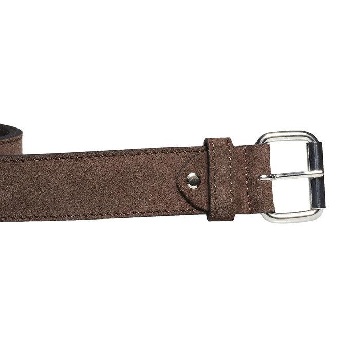Kožený pánsky opasok bata, hnedá, 953-4106 - 26