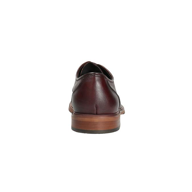 Vínové kožené poltopánky bata, červená, 826-5645 - 17