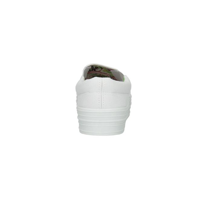 Biele Slip-on na širokej podrážke bata, biela, 529-1631 - 17