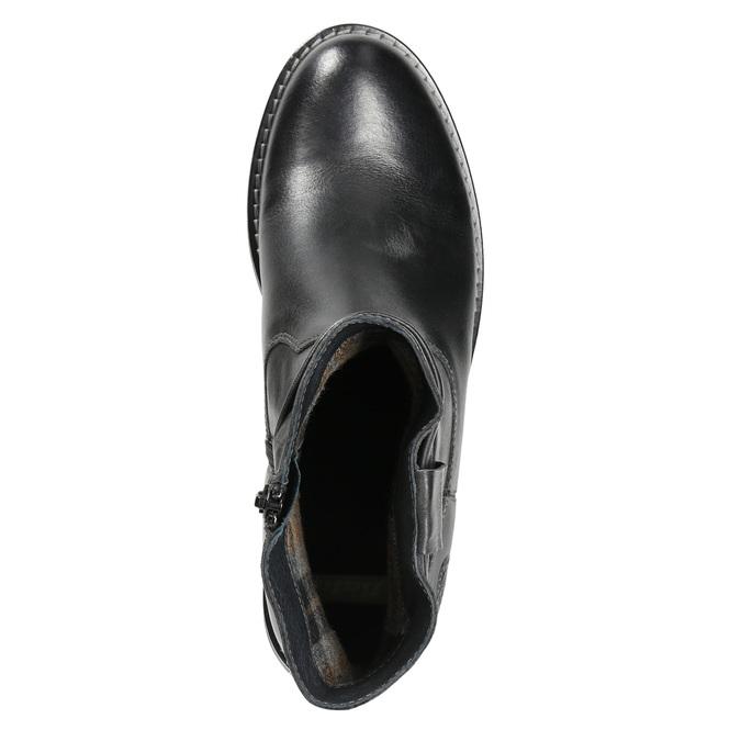 Dámska kožená členková obuv bata, čierna, 594-6611 - 26