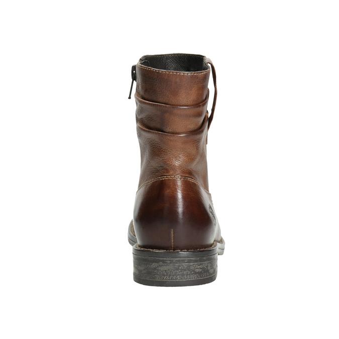 Kožená členková obuv ve Western štýle bata, hnedá, 594-4611 - 17
