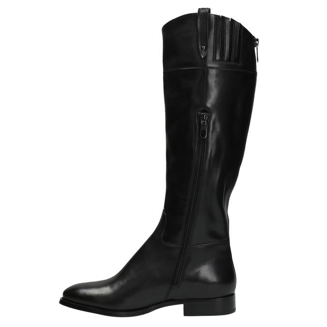Kožené čižmy s výrazným zipsom bata, čierna, 596-6631 - 19