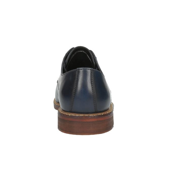 Ležérne kožené poltopánky bata, modrá, 826-9644 - 17