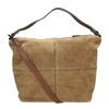 Kožená kabelka s prešitím bata, hnedá, 963-3130 - 19