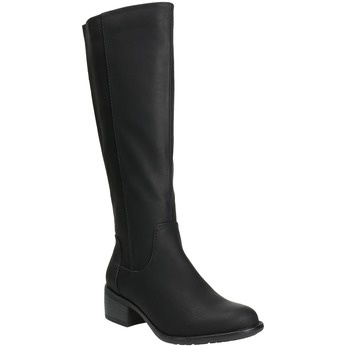 Dámske čižmy na nízkom podpätku bata, čierna, 691-6600 - 13