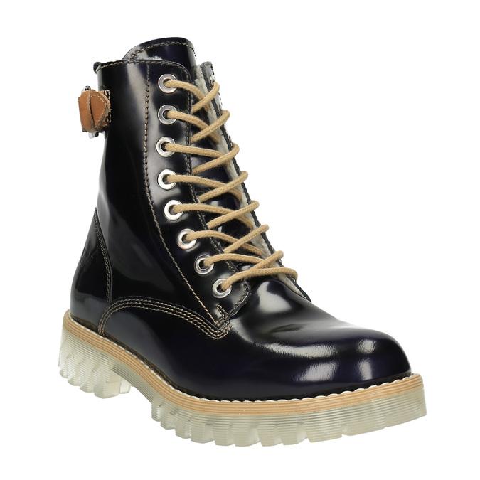 Kožená členková obuv na priehladnej podrážke weinbrenner, čierna, 598-6602 - 13