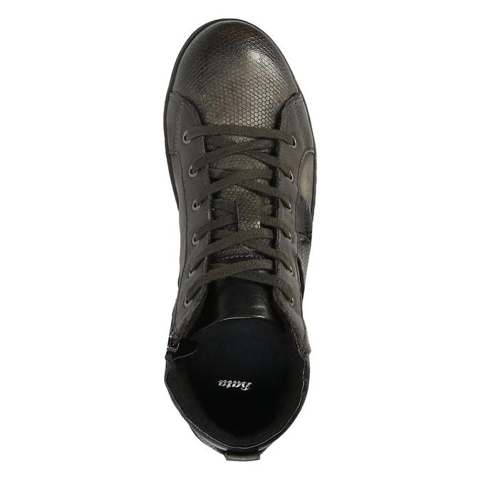 Pánska členková obuv kožená bata, šedá, 846-2602 - 19