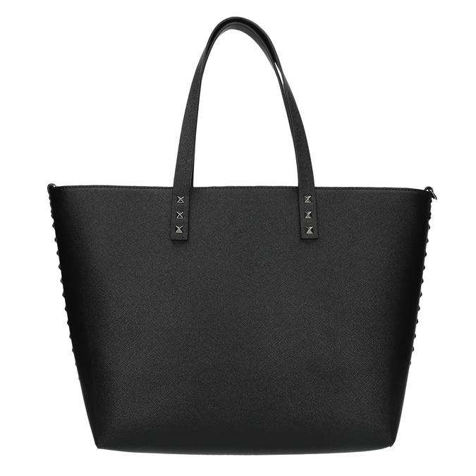 Shopper kabelka s pevným dnom bata, čierna, 961-6647 - 19