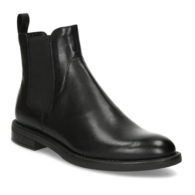 Dámske kožené čierne Chelsea vagabond, čierna, 514-6007 - 13