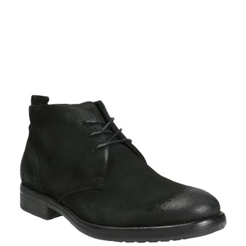 Členková obuv z brúsenej kože bata, čierna, 846-9611 - 13