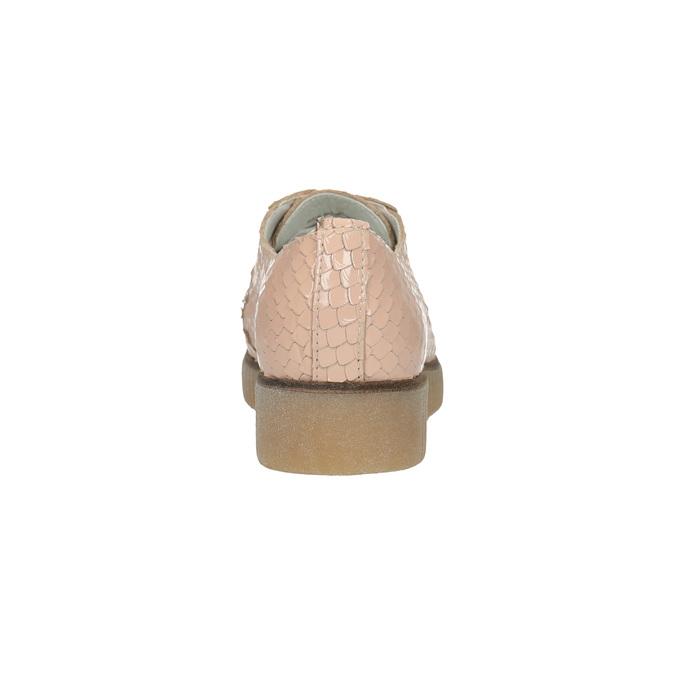 Dámske kožené poltopánky bata, ružová, 526-5613 - 17