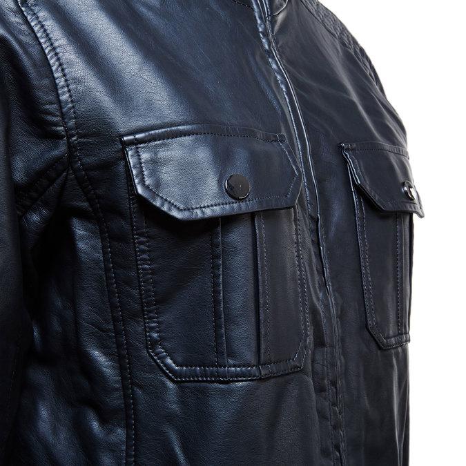 Pánska bunda s náprsnými vreckami bata, čierna, 971-6169 - 16
