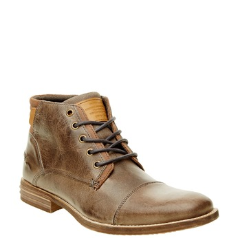 Kožená členková obuv pánska bata, hnedá, 894-2620 - 13