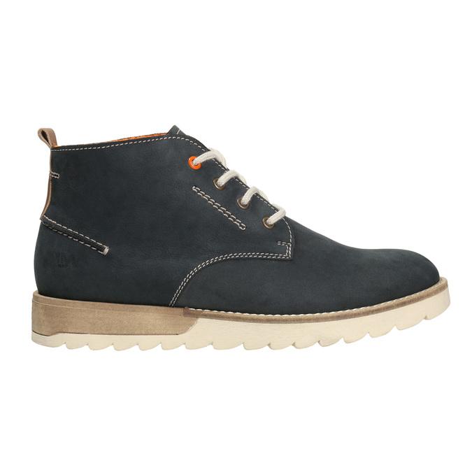Pánske kožené Chukka Boots weinbrenner, modrá, 846-9629 - 26
