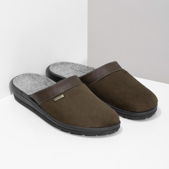Pánska domáca obuv bata, hnedá, 879-4600 - 26