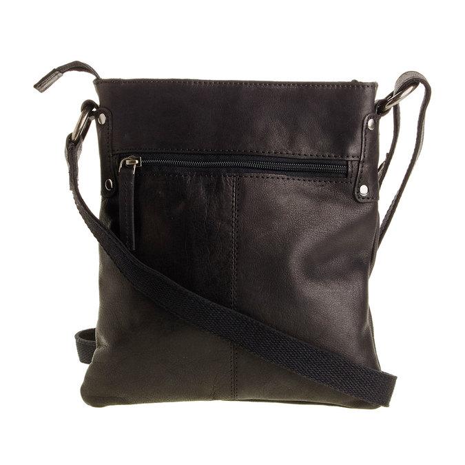 Kožená Crossbody taška bata, čierna, 964-6113 - 26