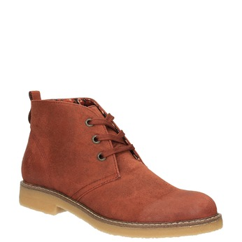 Dámska členková obuv s farebnou podšívkou bata, oranžová, 599-5605 - 13