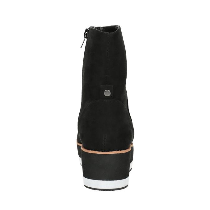 Členková obuv na flatforme bata, čierna, 699-6601 - 17