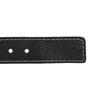 Kožený opasok s prešitím bata, čierna, 954-6147 - 16