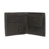 Kožená peňaženka s perforáciou bata, čierna, 944-6175 - 15
