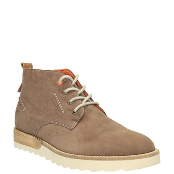 Pánske kožené chukka boots weinbrenner, hnedá, 846-4629 - 13