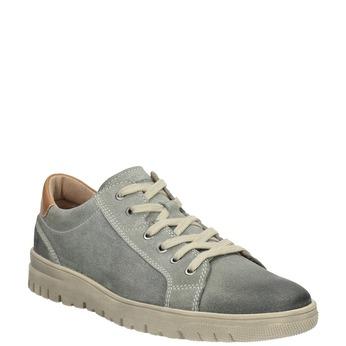 Pánske kožené tenisky weinbrenner, šedá, 843-2620 - 13