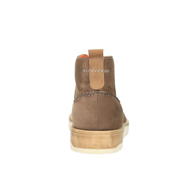 Pánske kožené chukka boots weinbrenner, hnedá, 846-4629 - 17