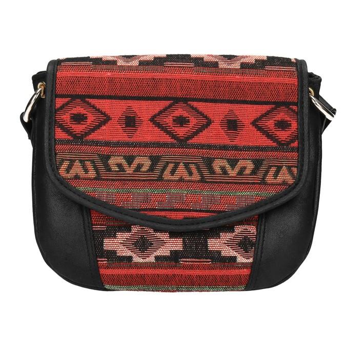 Crossbody kabelka s Etno vzorom bata, čierna, 969-6642 - 19