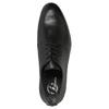 Pánske kožené poltopánky čierne bata, čierna, 824-6711 - 19