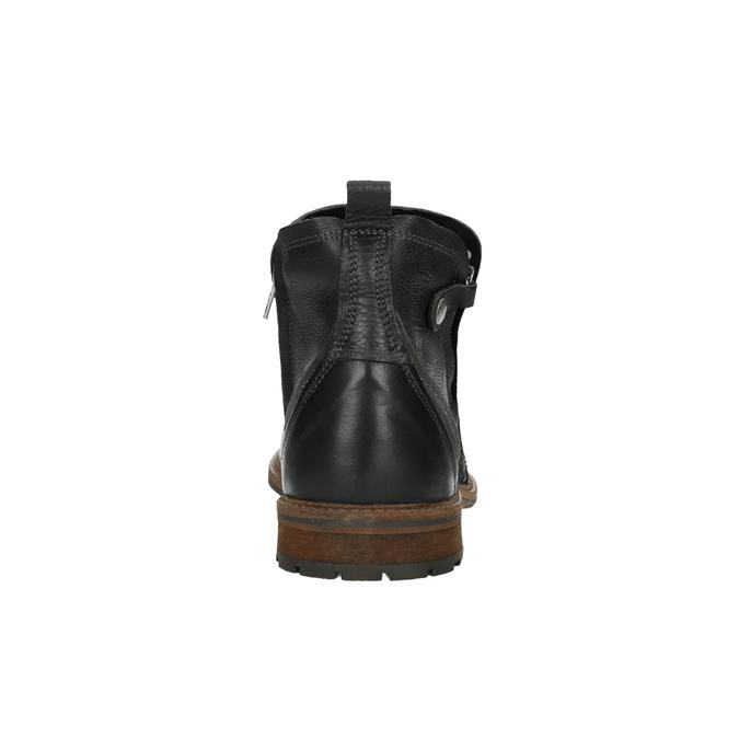 Kožená členková obuv pánska bata, čierna, 894-6660 - 17