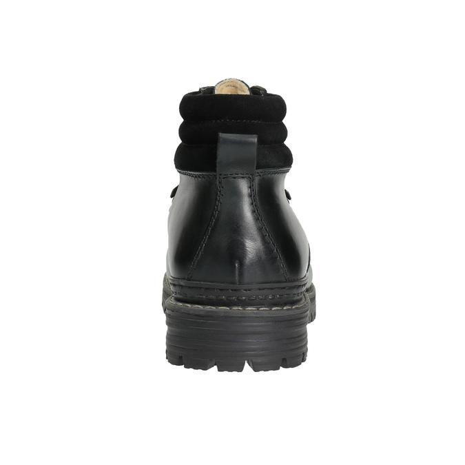 Kožená obuv s originálnym šnurovaním bata, čierna, 894-6180 - 17