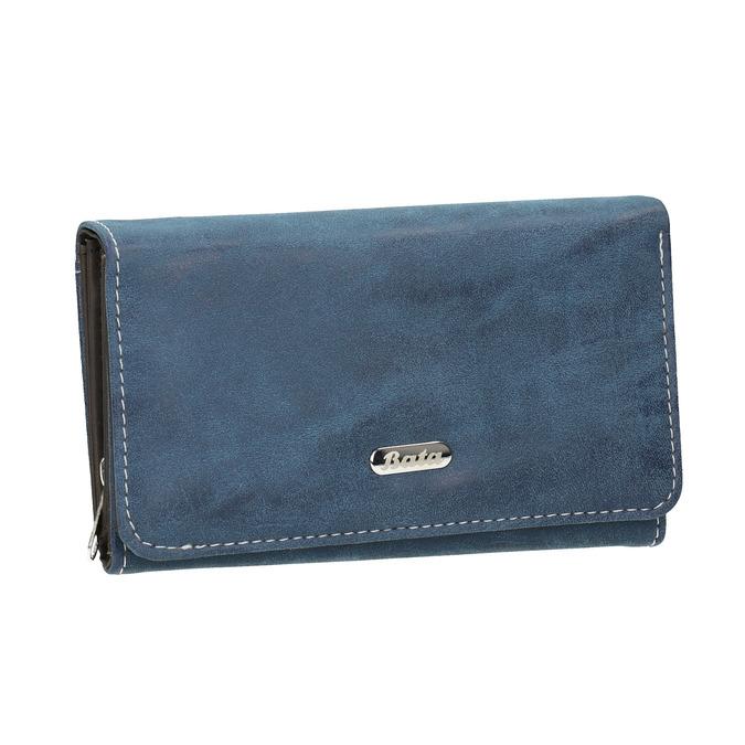 Dámska modrá peňaženka bata, modrá, 941-9153 - 13