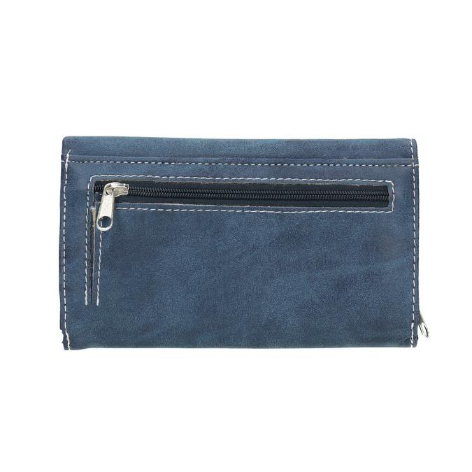 Dámska modrá peňaženka bata, modrá, 941-9153 - 19