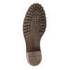 Kožená členková obuv s kožúškom manas, šedá, 696-2602 - 26