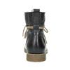 Kožená členková obuv so zateplením bata, čierna, 594-6610 - 17